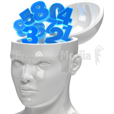 Numbers In Open Head Presentation clipart