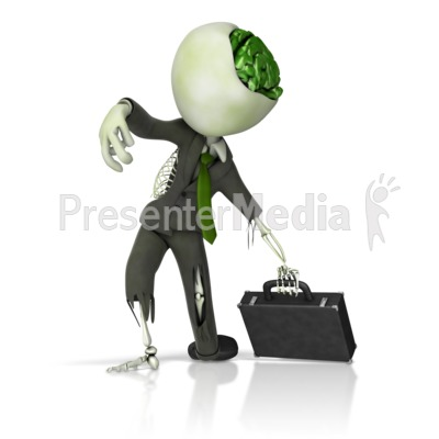 Business Zombie Presentation clipart