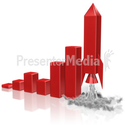 Rocket Graph Presentation clipart