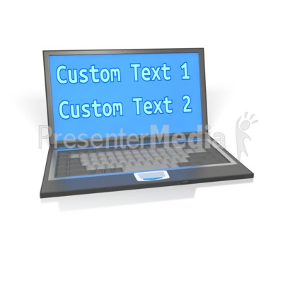 Laptop Custom Screen Presentation clipart