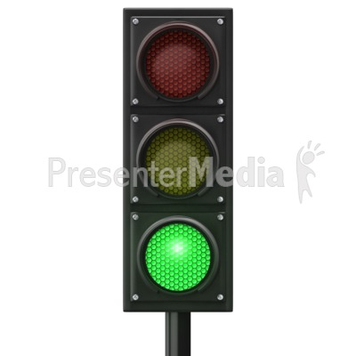 Traffic Light Green Front Presentation clipart