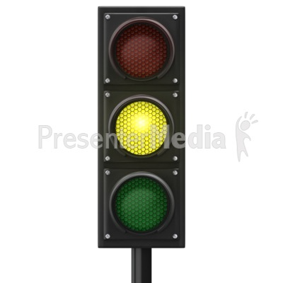 Traffic Light Yellow Front Presentation clipart