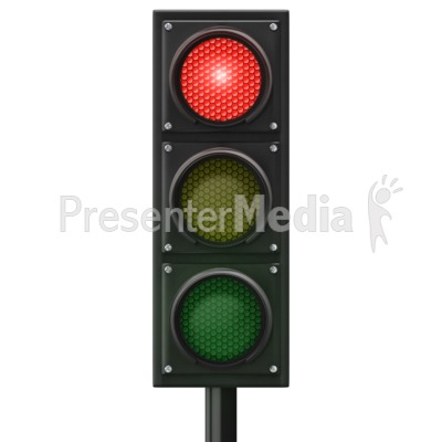 Traffic Light Red Front Presentation clipart