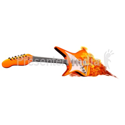 Guitar On Fire Presentation clipart