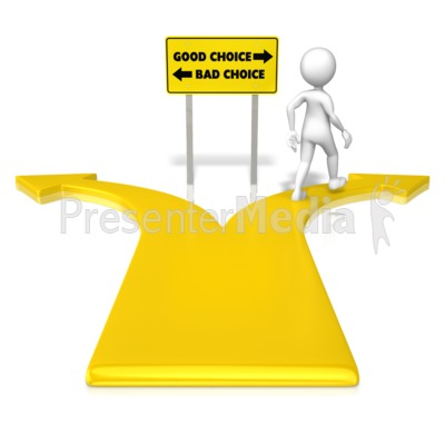 Figure Good Choice Presentation clipart