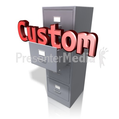 Office Cabinet Custom Text Presentation clipart
