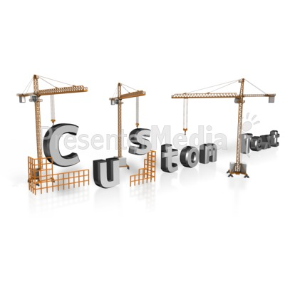 Crane Custom Text Presentation clipart