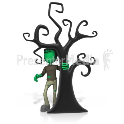 Monster By The Tree Presentation clipart