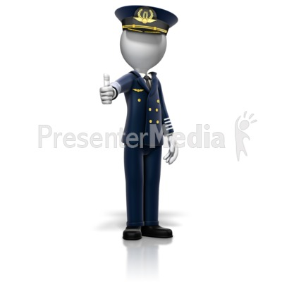 Airline Pilot Giving Thumbs Up Presentation clipart