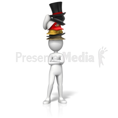Sporting Many Hats Presentation clipart