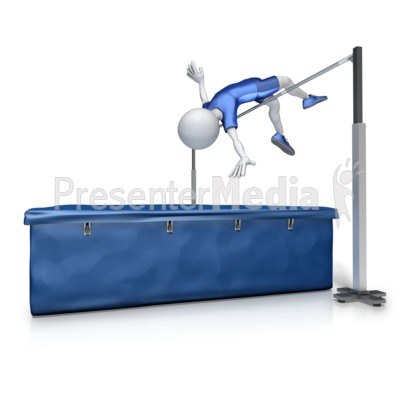 Male High Jump Presentation clipart