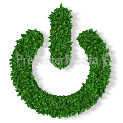 Grass Power Symbol Presentation clipart