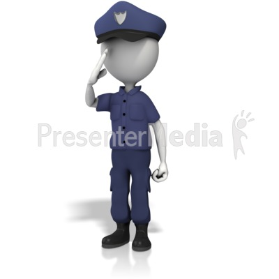 Police Officer Salute Presentation clipart