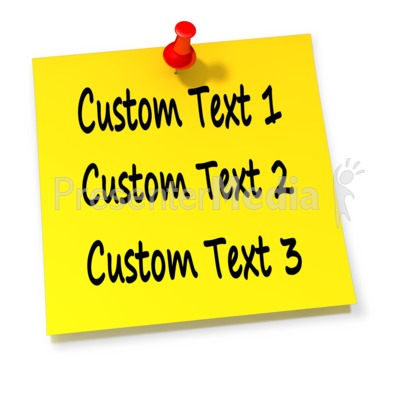 Custom Thumbtack Note Presentation clipart