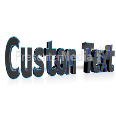 Custom Text Presentation clipart