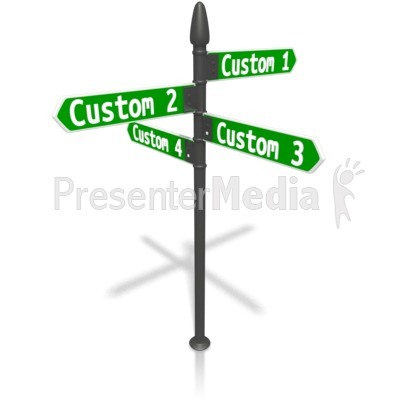 Custom Four Street Sign Presentation clipart