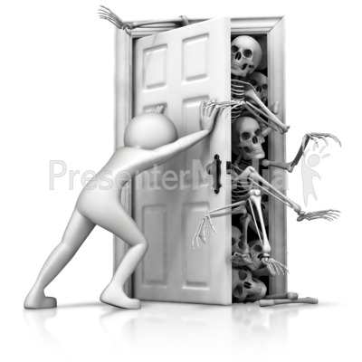 Skeletons In Your Closet Presentation clipart