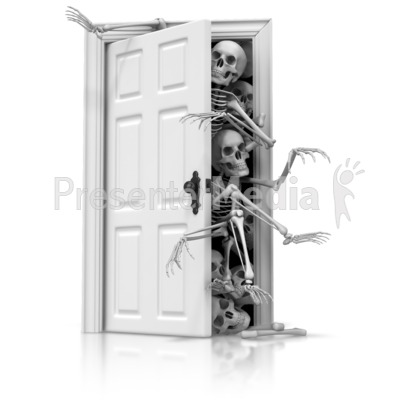 Skeletons In The Closet Presentation clipart