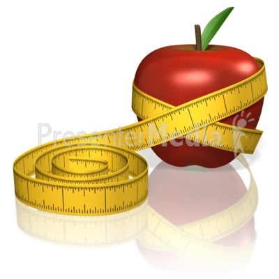 Apple Measure Tape Presentation clipart