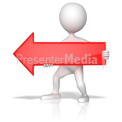 Red Arrow Left Presentation clipart