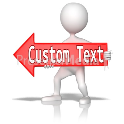 Custom Red Arrow Left Presentation clipart