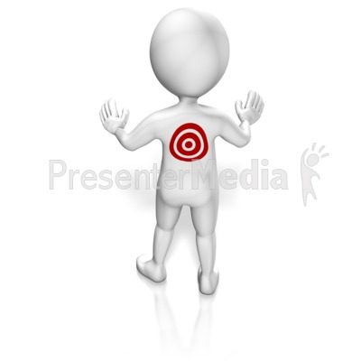 Target On Figures Back Presentation clipart
