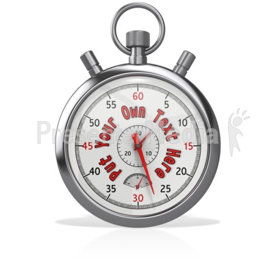 Custom Stopwatch With Hands Presentation clipart
