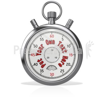Custom Stopwatch Blank Presentation clipart