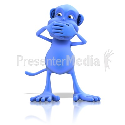 Monkey Speak No Evil Presentation clipart