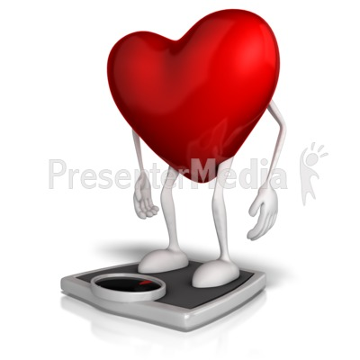 Heart On A Scale Presentation clipart
