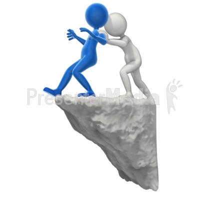 Pushing Someone To The Edge Presentation clipart
