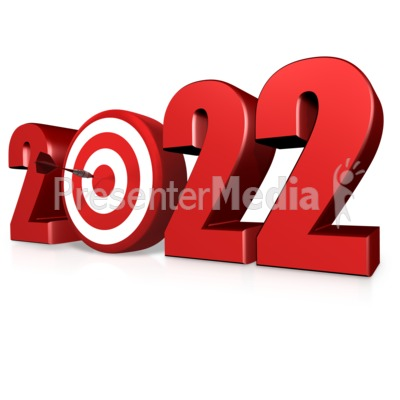 Custom Year Bullseye Presentation clipart