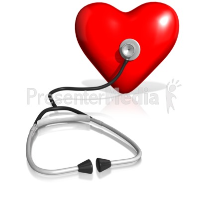 Stethoscope On Heart Presentation clipart