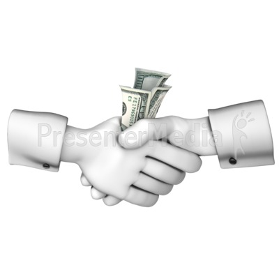Handshake Money Exchange Presentation clipart