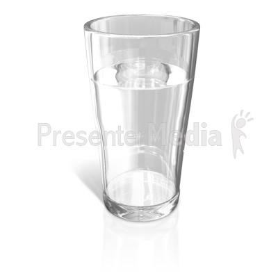 Glass of Water Presentation clipart