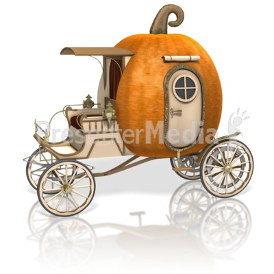 Pumpkin Carriage Presentation clipart