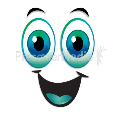 Happy Excited Expression Eyebrows Raised Presentation clipart