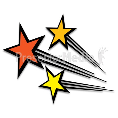 Shooting Stars Presentation clipart