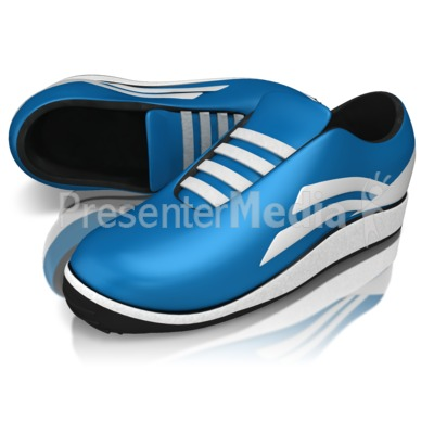 Pair Of Running Shoes Presentation clipart