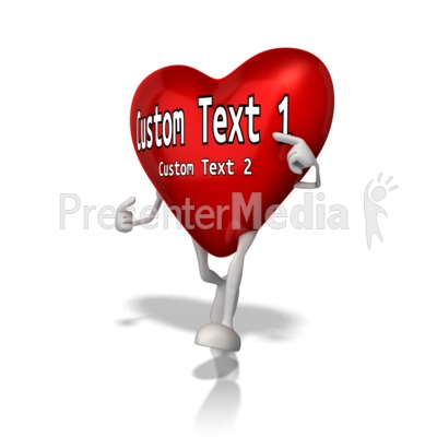 Custom Heart Character Presentation clipart