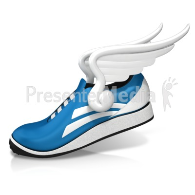 Shoe Fly Wings Presentation clipart