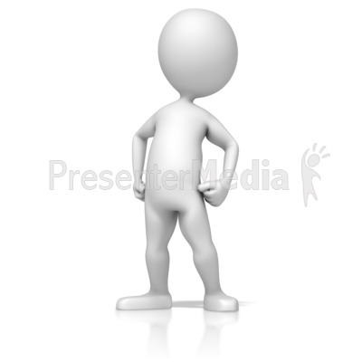 Figure Standing Proud Presentation clipart