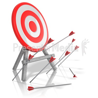 Arrows Missed Target Presentation clipart