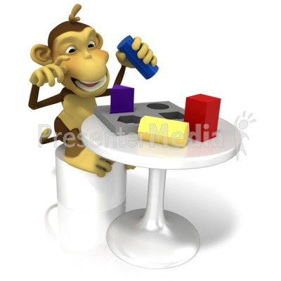 Monkey Testing Intelligence Presentation clipart