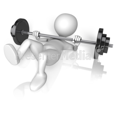 Stick Figure Crushed By Weights Presentation clipart