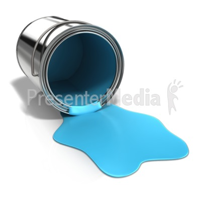 Paint Can Spilled On Ground Presentation clipart