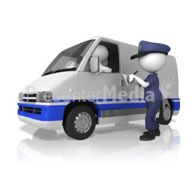 Cop Giving A Ticket Presentation clipart