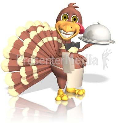 Turkey Waiter Presentation clipart