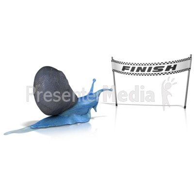 Race at a Snails Pace Presentation clipart