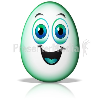 Egg Face Excited Presentation clipart